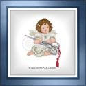 Stitching Angel with Scissors