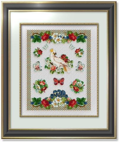Cross Stitch Patterns By Ems Design The Floral Samplers