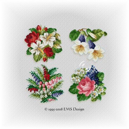 Cross Stitch Patterns By EMS Design The Floral Collection Beauteous Cross Stitch Flower Patterns
