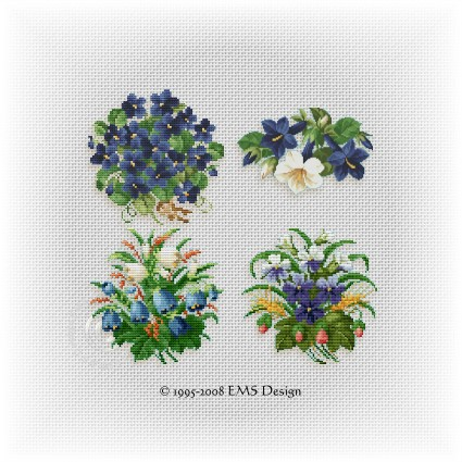 Cross Stitch Patterns By Ems Design The Floral Collection