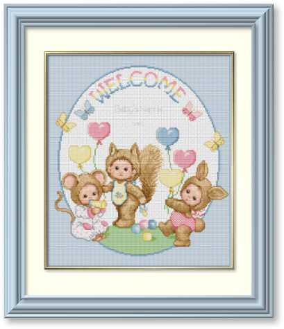 HOME EMBROIDERY BIRTH ANNOUNCEMENT