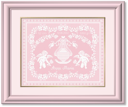 Cross Stitch Patterns by EMS Design Designs for Babies and Birth – Birth Announcements Cross Stitch