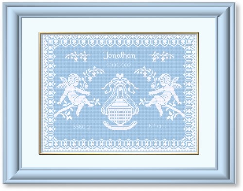 Cross Stitch Patterns by EMS Design Designs for Babies and Birth – Baby Birth Announcement Cross Stitch Patterns