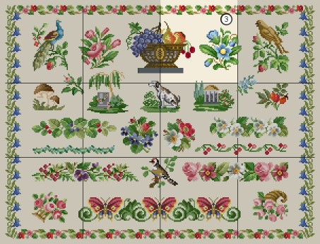 Free Cross Stitch Patterns by EMS Design. Free Project 2012 -Antique