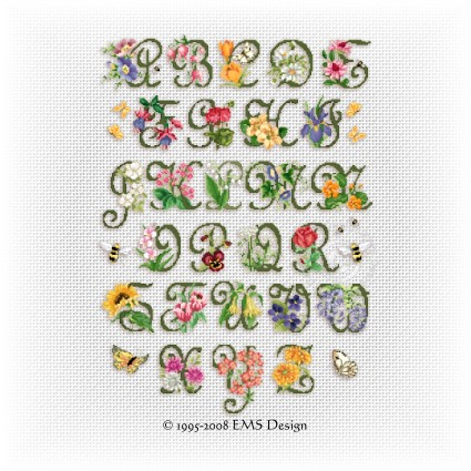 cross stitch free patterns alphabets