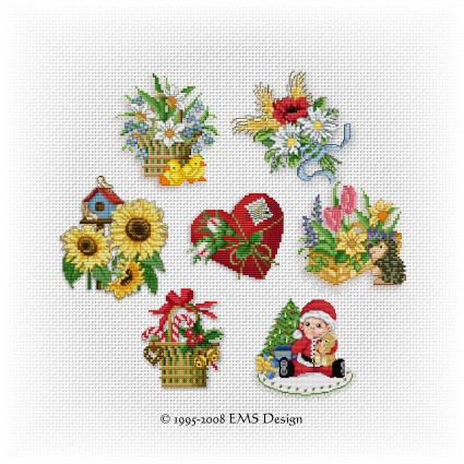 Free Cross Stitch Patterns By EMS Design The Free Pattern Archive Impressive Cross Stitch Free Patterns